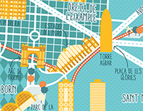 A Map of Barcelona