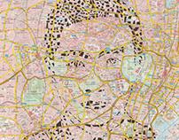 Human Cartography: Yukio Mishima/Tokyo / Paper Cut Map