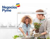 Negocios Pyme Bancolombia diseño del portal web.