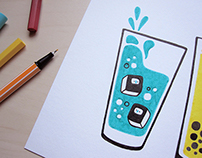 """Drinks"" for Horchata Magazine's Exhibition"