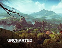 The photo mode in the game Uncharted: The Lost Legacy