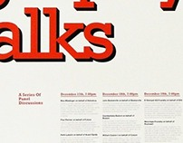 Typography Talks Poster (Student Work)