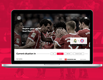 Bayern Munich | Website Concept