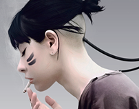 Digital painting girls