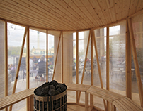 Sauna Budapešť — H3T architekti