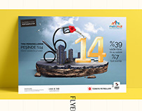 Türkiye Petrolleri & Metromall Flyer&Rollup