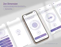 Zen Dimension (App Design Concept)