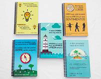 Diseño y fotos cuadernos con citas de Albert Espinosa