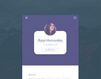 Profile UI design