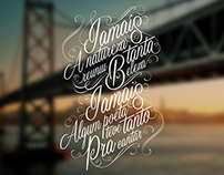 """Typography - """"Rancho de Amor a Ilha"""" Florianopolis SC"""