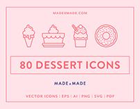 Line Icons – Dessert