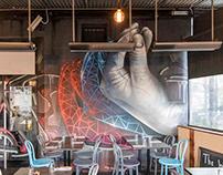 Bella Italian Restaurant Interior Mural