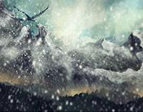 Snowstorm Digital painting, iPad Art