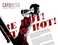 Capsinesis Print Ad Layout Pegs