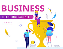 Business illustrations with characters