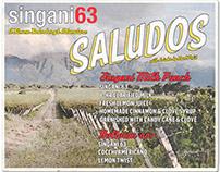 GRAPHIC DESIGN: Singani 63 drink menus