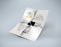 Free Folded A4 Flyer Mockup