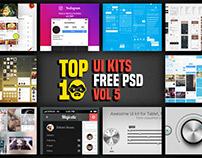 Top 10 UI Kit Free Psd Download Vol 5
