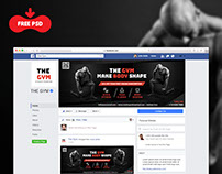 The Gym Facebook Fan page Cover Free PSD