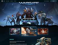 Wargate Landing Page