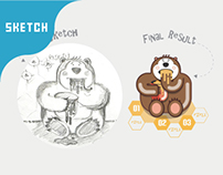 From sketch to result (Infographic Elements v19)
