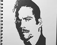 Paul Walker R.I.P. Pen & Ink Illustration