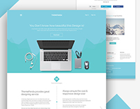 Themeunix: Cool Landing Page Design