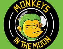 Monkeys in the moon logo