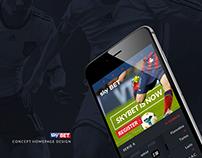SkyBET app - Concept Homepage Design