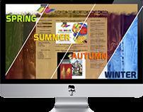 """Gallery """"Seasons"""" website"""