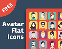 Men & Women Avatar Flat Icons