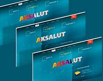 Aksalut corporate site design