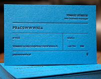 pracoWWWnia, wizytówki letterpress business card