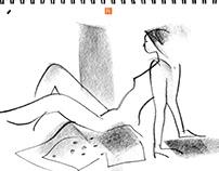 Life drawing XLIV_Ellie (3rd sitting)