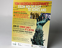 Yom Hashoah Observance ads and flyers