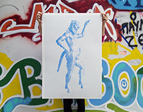 Satyr / Ancient Greek Erotic Art Silkscreen Print