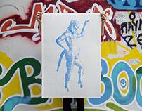 Satyr / Ancient Greek Erotic Art Silkscreen Print
