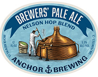 Anchor Brewing Co. Label Illustrated by Steven Noble
