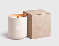Candle Glass and Box Packaging Mockup