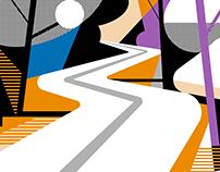 Roche – Brand illustrations for Pharma Informatics