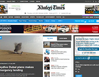 Khaleej Times  UI-UX-Web-Design