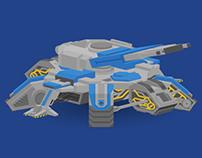 Starcraft II Siege Tank - Isometric Style