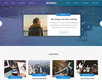 Journal - Multi purpose blog page website template