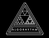 Logo and artwork for ALGORHYTHM