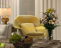 KSA Villa - Living room
