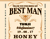 Custom Jack Daniels Wedding Label for OpenMe NG