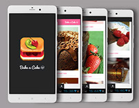 Cake recipe app ui