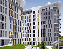 Conception of the residential complex in Baku.