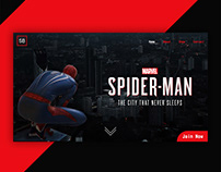 Marvel Spider-man Home Page Layout