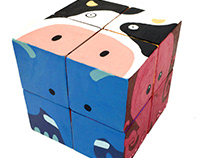 cube animal puzzle -children's toy